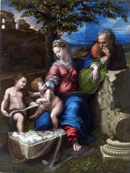オークの下の聖家族   ラファエル・サンティ