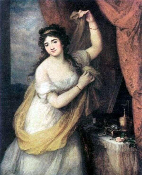 Esterhazy王女の肖像   アンジェリカ・カウフマン