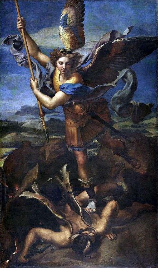 聖ミカエルと悪魔   ラファエルサンティ