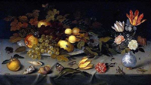 花とフルーツ   Balthazar van der Ast