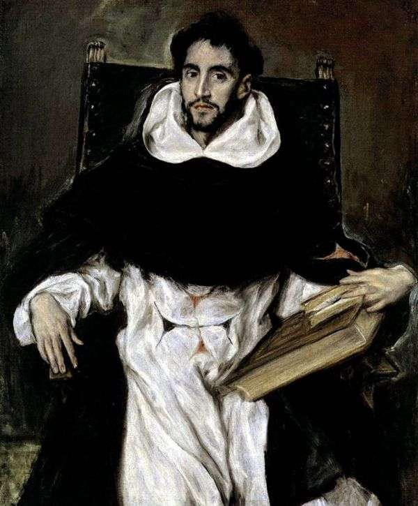 僧侶Ortencio Paravisino   El Grecoの肖像