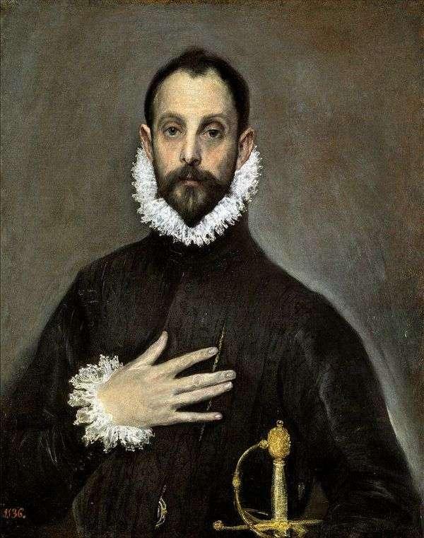 年配の貴族の肖像   El Greco