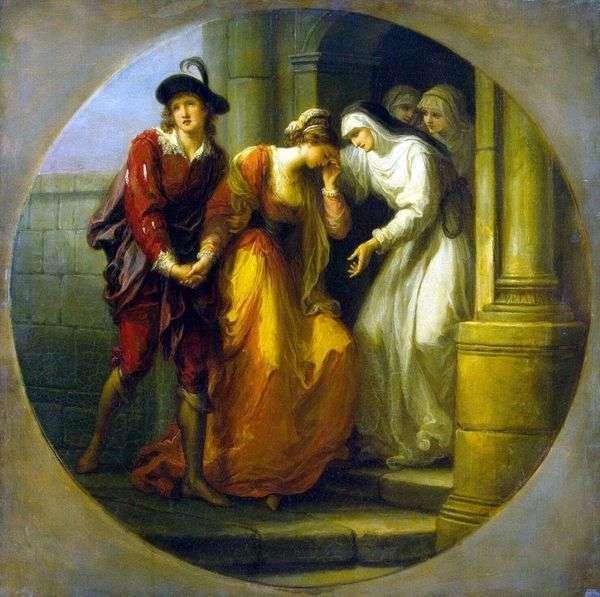 AbelardとEloiseの別れ   アンジェリカ・カウフマン