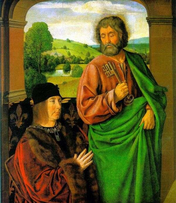 ピエール2世、ブルボン公爵とsv。使徒ペテロの守護者   Jean Hey