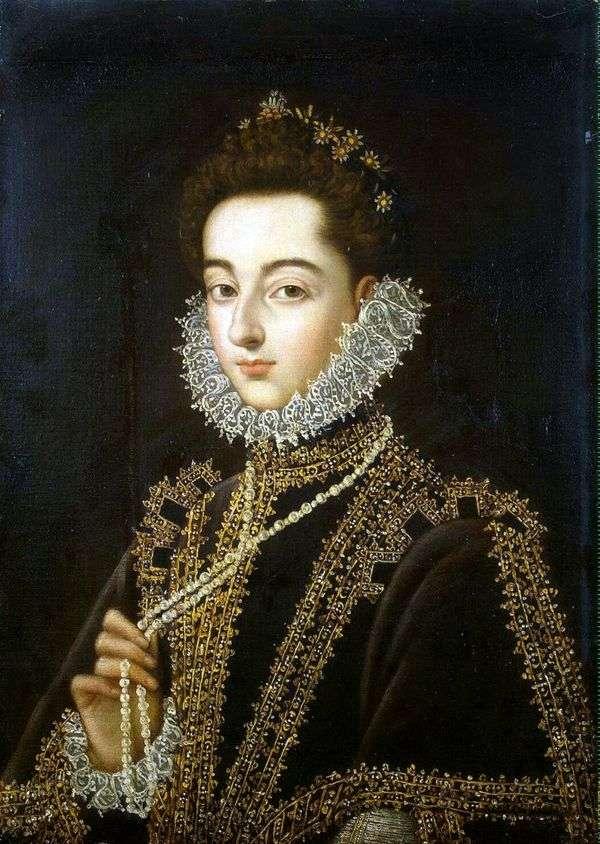 オーストリア   AlonsoSánchezCoelhoのInfanta Catalina Michaelaの肖像