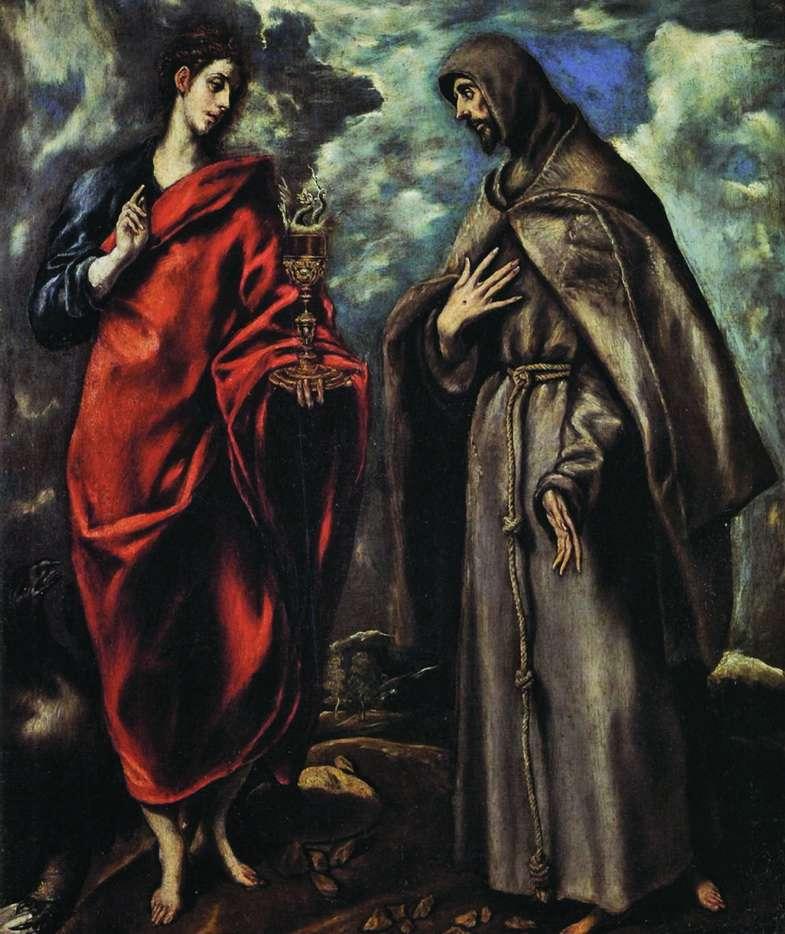 聖ヨハネ福音伝道者と聖フランシスのアッシジ   El Greco