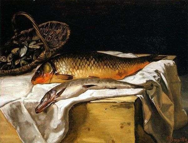 魚のある静物   フレデリックバジル