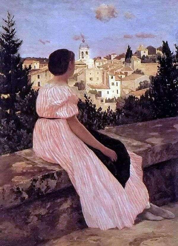 ピンクのドレス   フレデリックバジル
