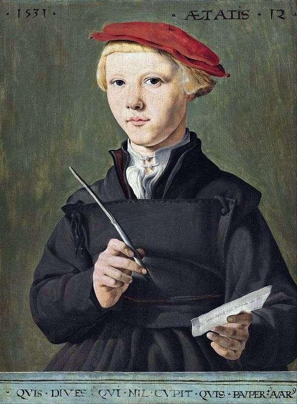 男子生徒の肖像   Martin van Hemskerk