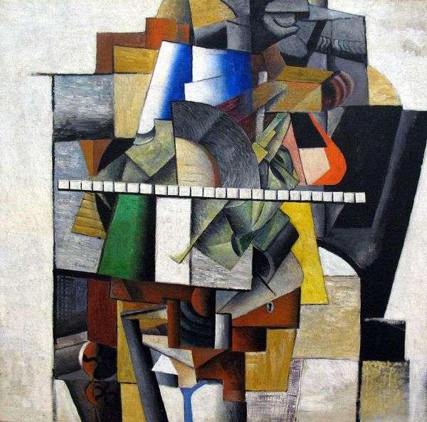 アーティストの肖像M. V. Matyushin   Kazimir Malevich