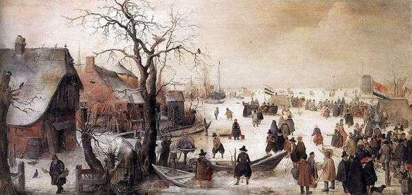 冬にはチャンネルで   Averkamp Hendrik