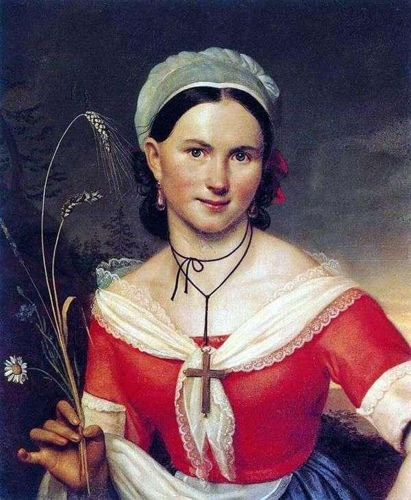 ZeliaとしてのE. A. Teleshova   Orest Kiprensky