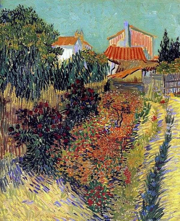 家の裏庭   ヴィンセントヴァンゴッホ