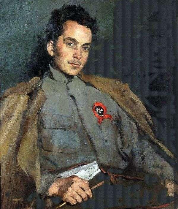 作家D. A. Furmanovの肖像」   Sergey Malyutin