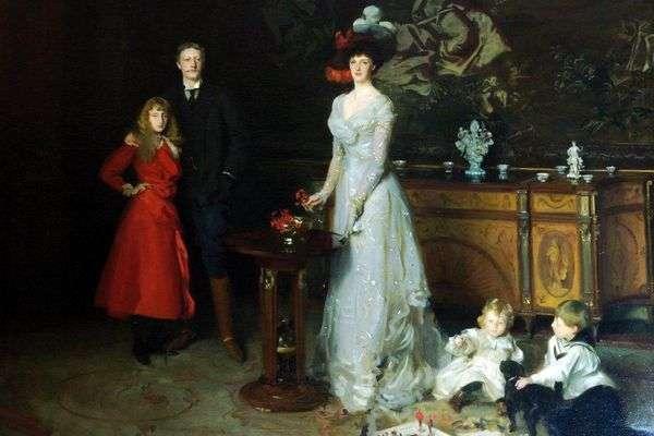 George Sitwell、Lady Ida Sitwellとその子供たち   John Sargent