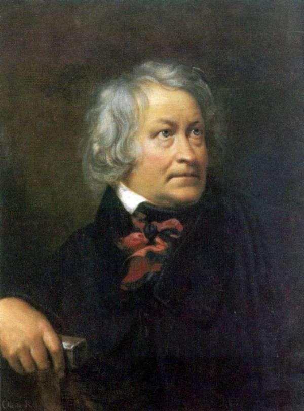 彫刻家Thorvaldsen   Orest Kiprenskyの肖像画