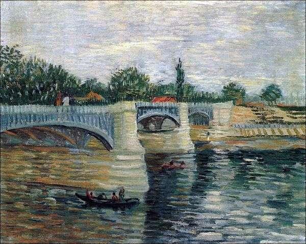 グランドジェットポンツーンブリッジとセーヌ川   Vincent Van Gogh