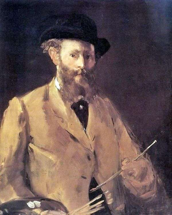 パレットの自画像   エドゥアール・マネ