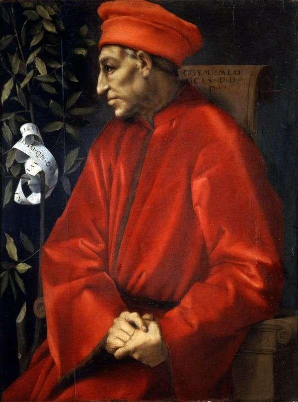Cosimo Senior Medici   Jacopo Pontormoの肖像
