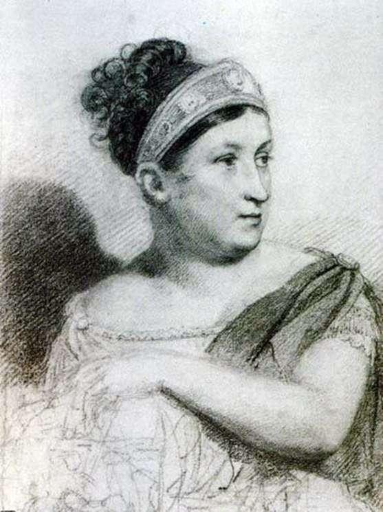 女優E. S. Semenova   Orest Kiprenskyの肖像