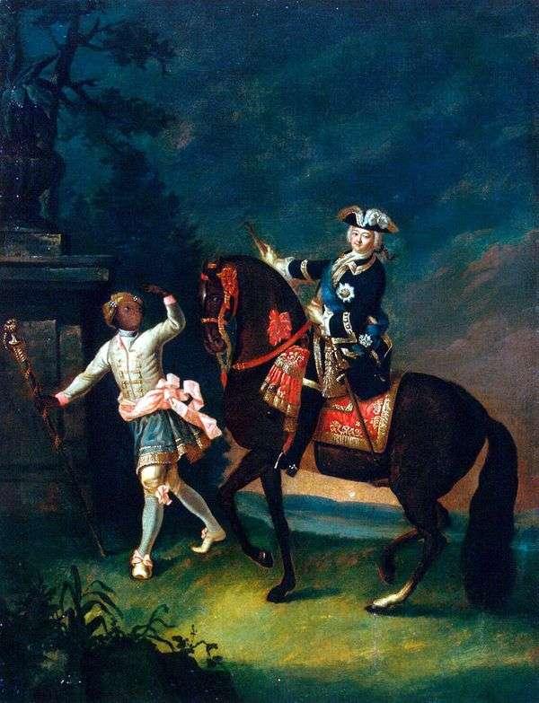 Arapchon   ジョージ・クリストファー・グルートとエリザベス・ペトロヴナの乗馬の肖像画