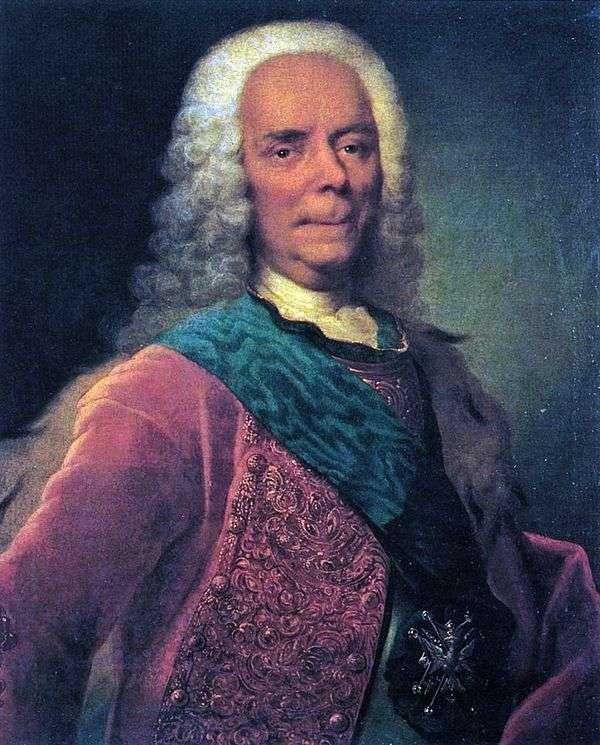 プリンスV. V. Dolgorukov   ゲオルククリストファーグルートの肖像