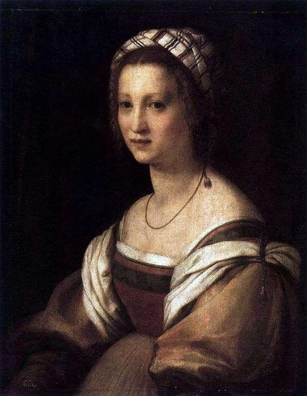 アーティストの妻の肖像画。   アンドレア・デル・サルト
