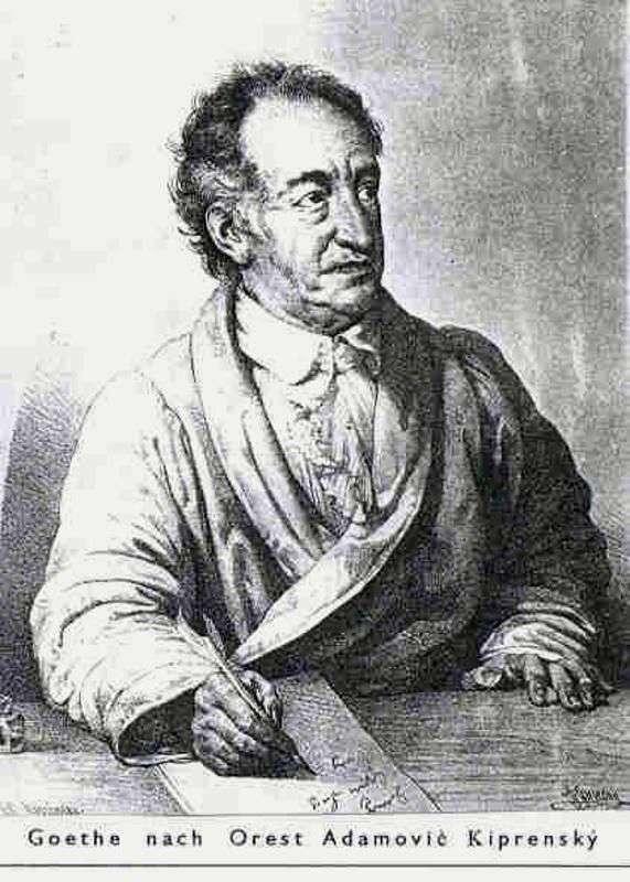 Goethe   Orest Kiprenskyの肖像画