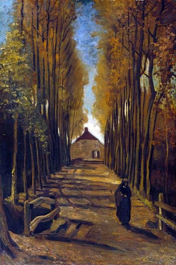 秋のポプラ路地   ヴィンセントヴァンゴッホ
