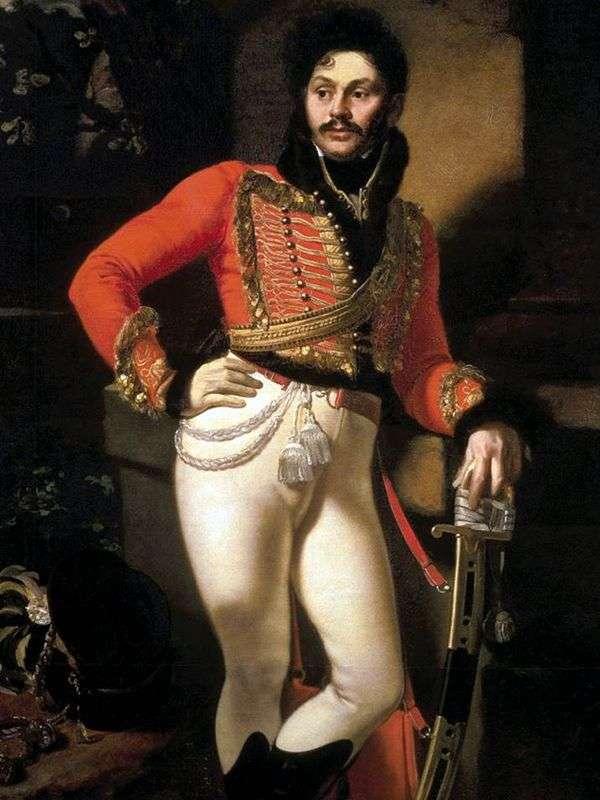 Davydov the Hussar   Orest Kiprenskyの肖像画