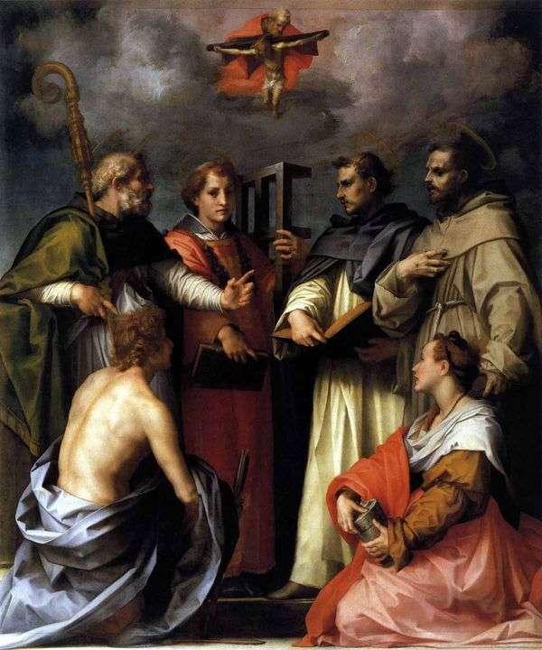 トリニティ紛争(論争)   Andrea del Sarto