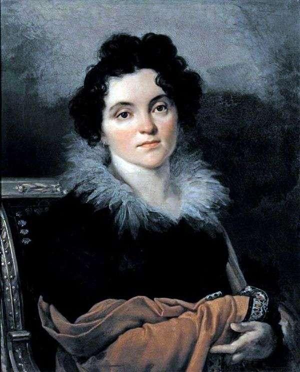 D. N. Khvostova   Orest Kiprenskyの肖像画