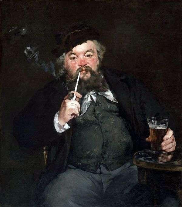 ビールを飲みながら   Edouard Manet