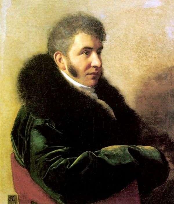 プリンスI. A. Gagarin   Orest Kiprenskyの肖像