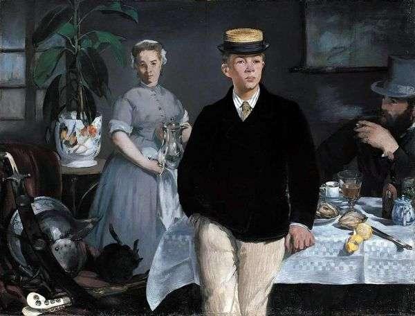 ワークショップでの朝食   Edouard Manet
