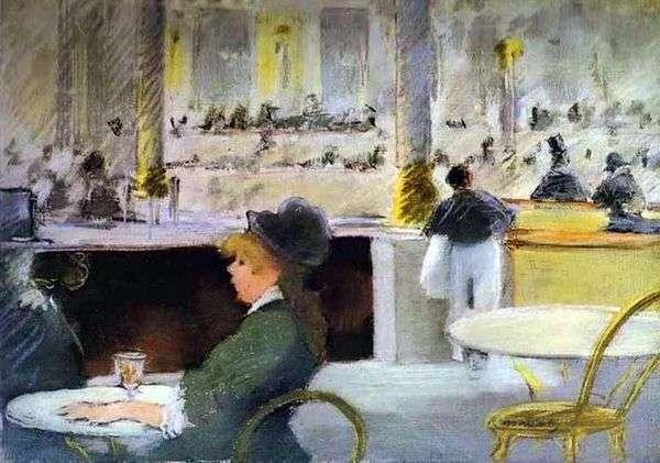 カフェのインテリア   Edouard Manet