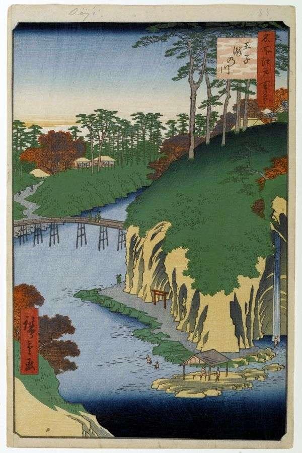 王子の滝原領   歌川広重