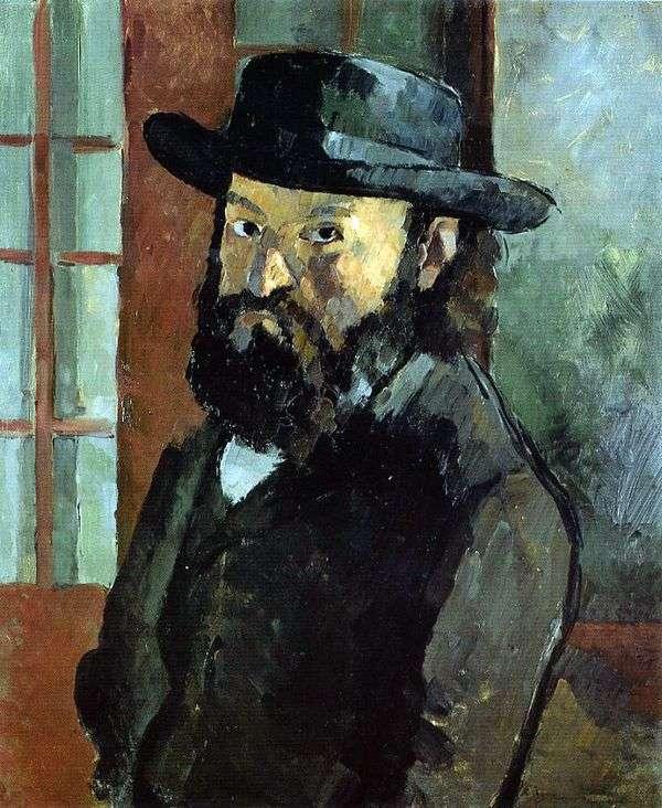 帽子をかぶった自画像   Paul Cezanne