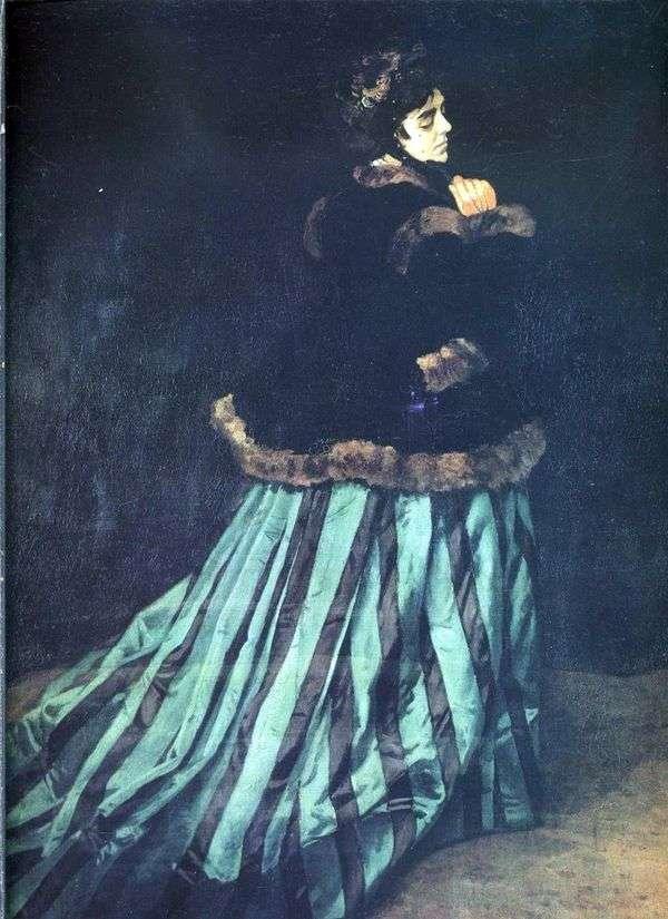 カミーラ(グリーンドレスの女性)   クロード・モネ