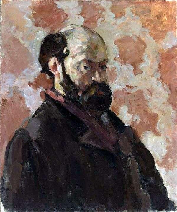 ピンクの背景   ポール・セザンヌの自画像