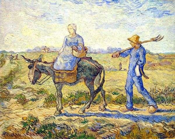 朝:仕事への出発(ミレー)   Vincent Van Gogh