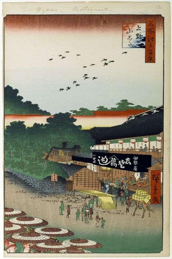 上野の山下地区   歌川広重