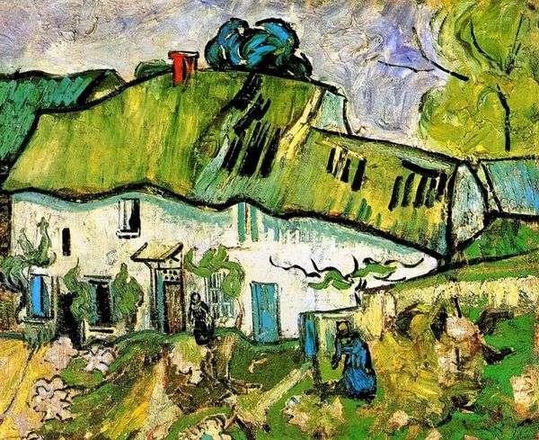 2つの人物と農家   Vincent Van Gogh