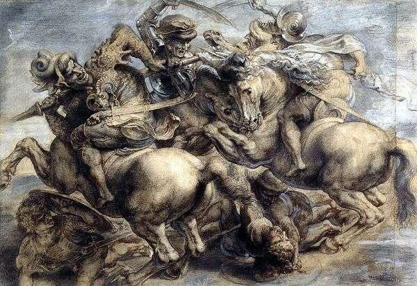 アンギアリの戦い   レオナルドダヴィンチ