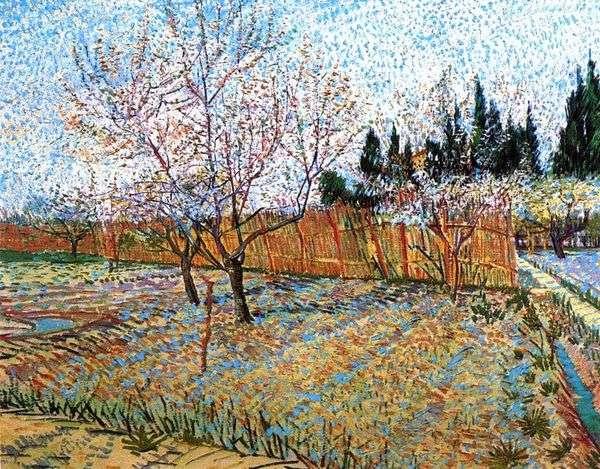 桃の花の果樹園   ヴィンセントヴァンゴッホ