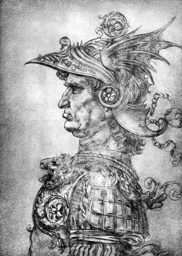 ヘルメットと鎧の戦士   Leonardo da Vinci