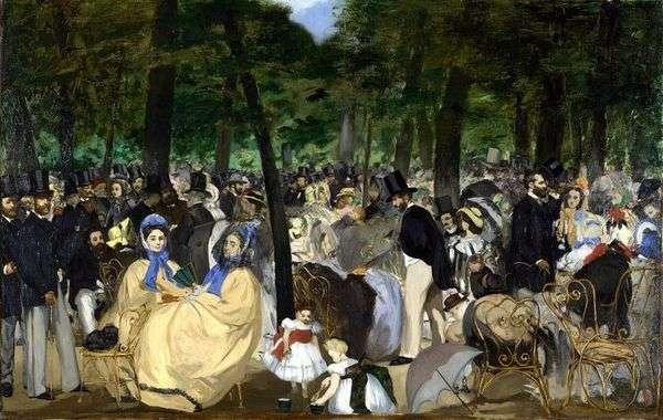 チュイルリーの音楽   Edouard Manet