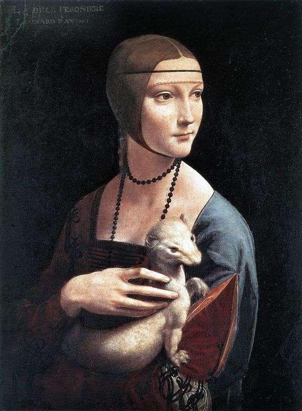 アーミンを持つ女性   レオナルドダヴィンチ
