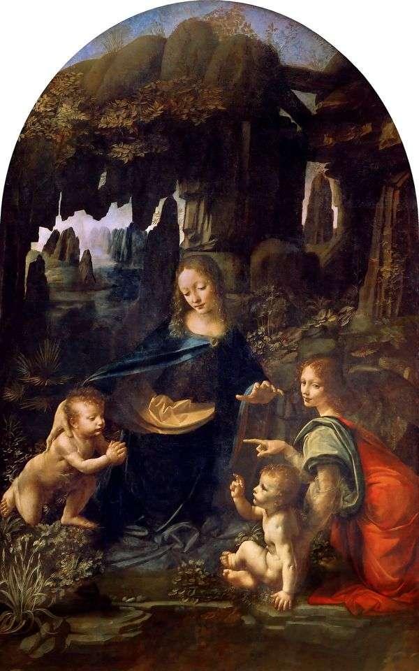 洞窟の中の聖母マリア   Leonardo da Vinci