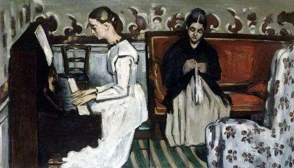 ピアノの女の子(Tannhäuserへの序曲)   Paul Cezanne